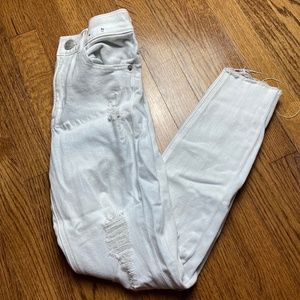 Express High Waisted White Jeans